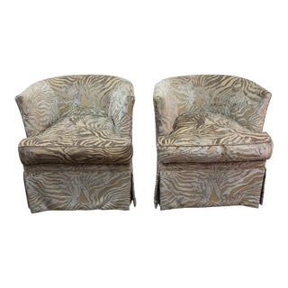 Vintage Upholstered Chairs - A Pair