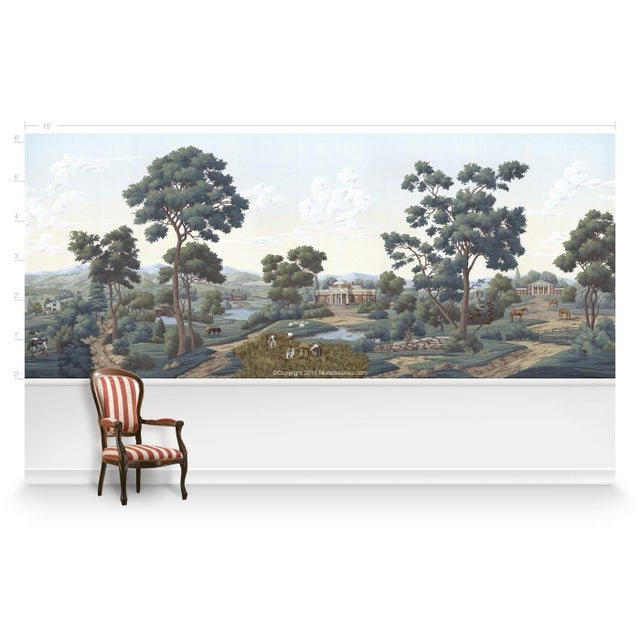 Traditional Casa Cosima Chesapeake Wallpaper Mural - Sample For Sale - Image 3 of 7