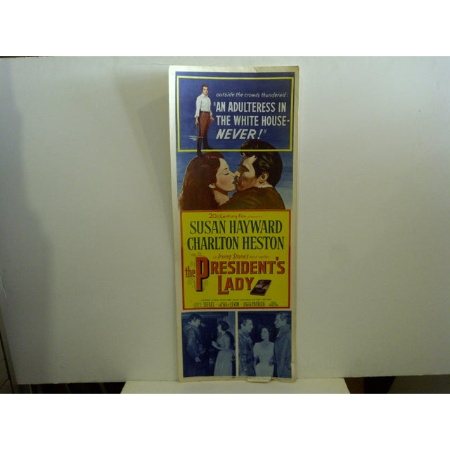 """Contemporary Vintage Movie Poster """"The Presidents Lady"""" Charlton Heston - 1953 For Sale - Image 3 of 7"""