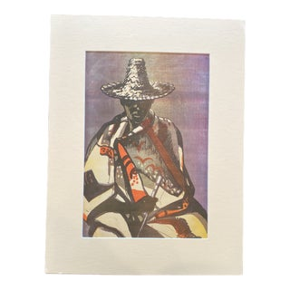 """1953 """"Basuto Man"""" Rosa Hope South African Figurative Lithograph For Sale"""