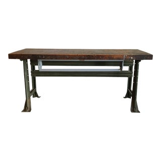 Industrial Work Table, American, 1920s For Sale