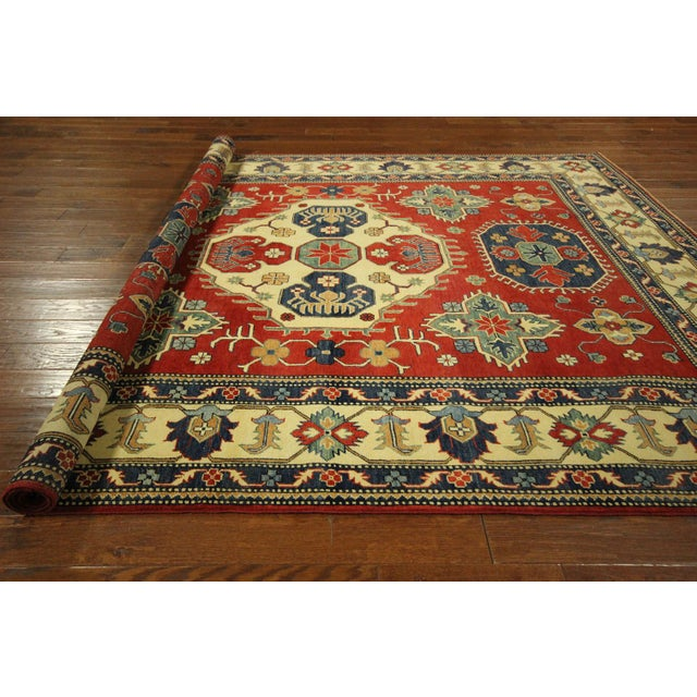 Traditional Super Kazak Rug Red- 8' x 11' - Image 10 of 11