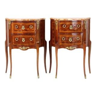 Pair of French Bedside Tables For Sale