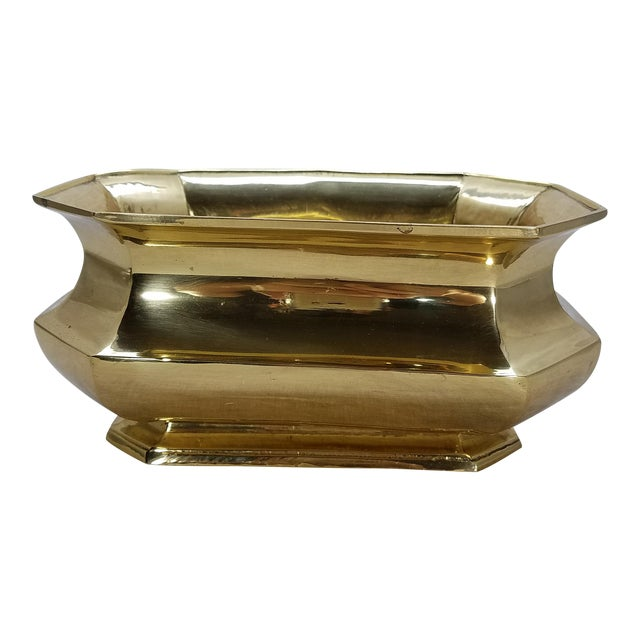 Solid Brass Cachepot Planter - Image 1 of 5
