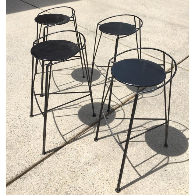 Pascal Morgue French Barstools - Set of 4 - Image 5 of 10