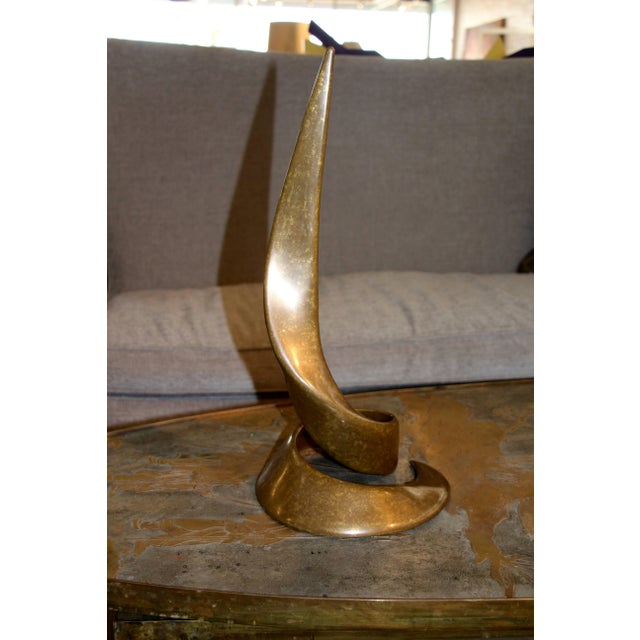 Beautiful Swirling Curl Bronze by Bill Keating Dated 1983 For Sale - Image 4 of 7