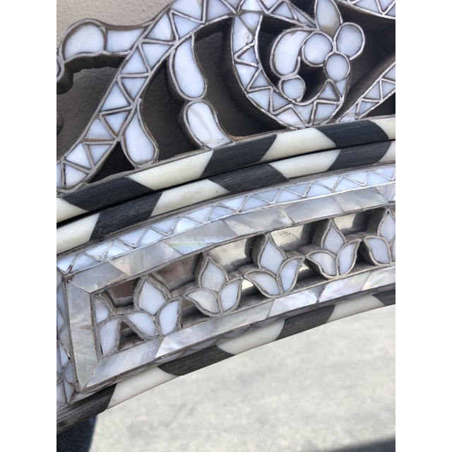 2010s Contemporary Mother of Pearl Inlay Mirror For Sale - Image 5 of 6