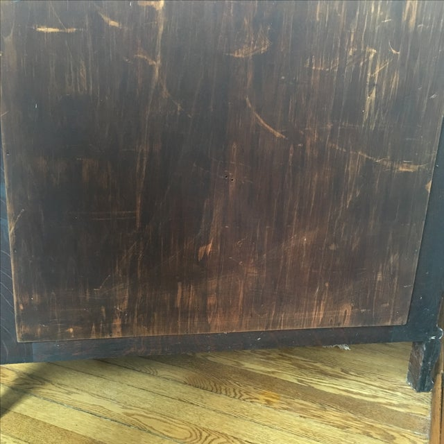Antique Curved Glass Cabinet With Glass Shelves For Sale - Image 5 of 8