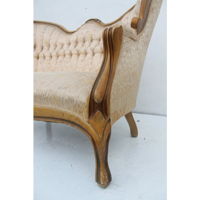 French Antique Carved Loveseat - Image 9 of 11