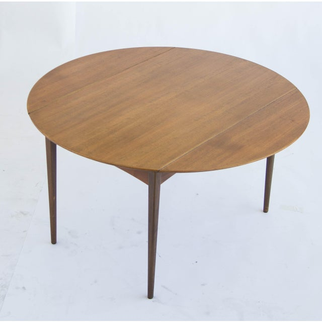 Dux of Sweden Round Drop Leaf Dining Table - Image 10 of 10