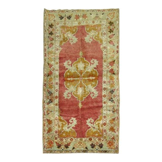 Antique Turkish Melas Rug, 3' x 5'1'' For Sale
