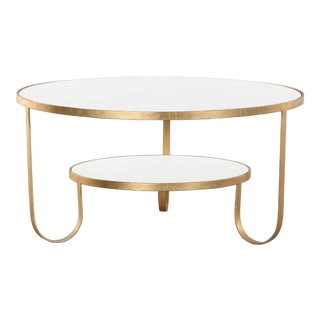 Contemporary Erdos + Ko Iron and Marble Rani II Coffee Table