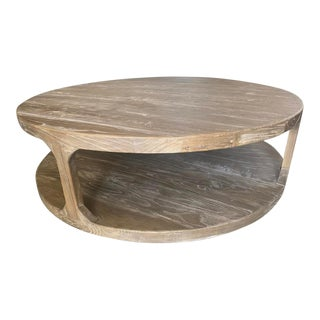Restoration Hardware Martens Round Coffee Table For Sale