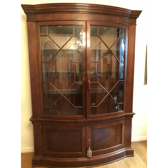 XMAS DEAL! Need it out of my home by Xmas-Gorgeous china cabinet by Baker Furniture from the Historic Charleston...