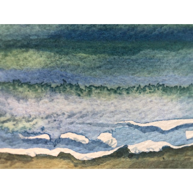 """Contemporary Final Price! Contemporary Watercolor """"Catch a Wave"""" by Nancy Smith For Sale - Image 3 of 6"""