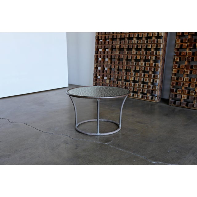 Bronze Bronze and Pebble Glass Side Table by Kipp Stewart for Terra Circa 1965 For Sale - Image 7 of 9