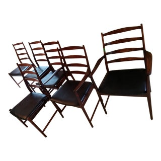 Mid Century Arne Vodder for Vamo Sonderborg Rosewood High Back Dining Chairs- Set of 6 For Sale