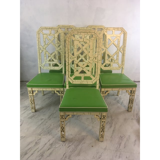 Palm Beach Style Chinoiserie Dining Chairs, Set of Six For Sale - Image 12 of 12