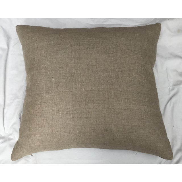 Linen French Needlepoint Aubusson Pillow For Sale - Image 7 of 7