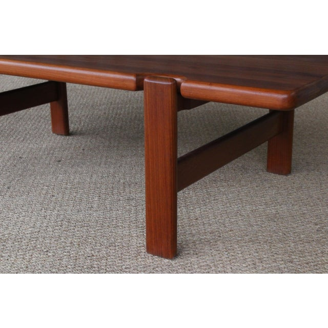Wood Danish Modern Solid Teak Coffee Table, Denmark, 1960s For Sale - Image 7 of 9