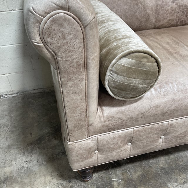 Ralph Lauren Style Cowboy Leather Sofa For Sale - Image 10 of 11