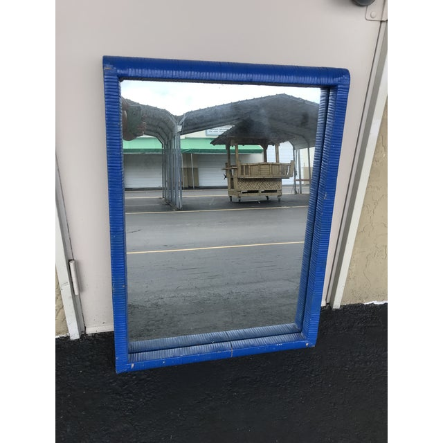 Carolina Mirror Co. Blue Wall Mirror For Sale - Image 13 of 13