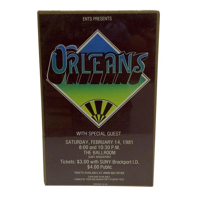 """Vintage """"Orleans"""" Concert Poster For Sale"""
