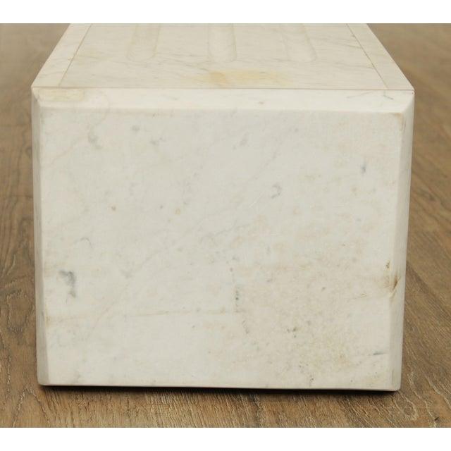 "Stone Italian Carrara Marble 56"" Column Pedestal For Sale - Image 7 of 13"