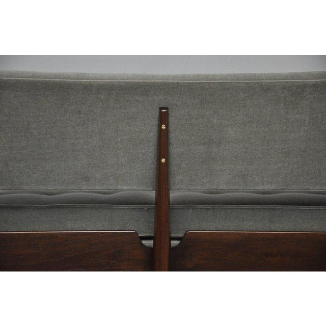 La Gondola Sofa in Gray Mohair by Edward Wormley for Dunbar For Sale - Image 10 of 11
