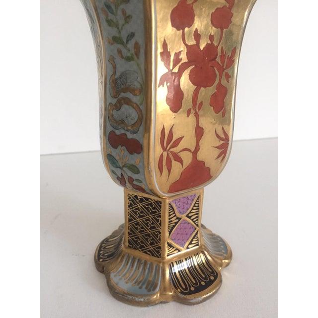 Vintage Middle Eastern Multicolor Floral Ceramic Bottle - Image 5 of 11