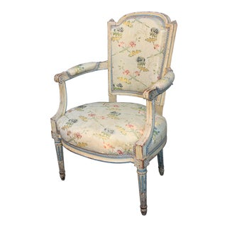 18th/19th C. Louis XVI Armchair Provenance Ivan Bowksi Estate La Jolla CA For Sale