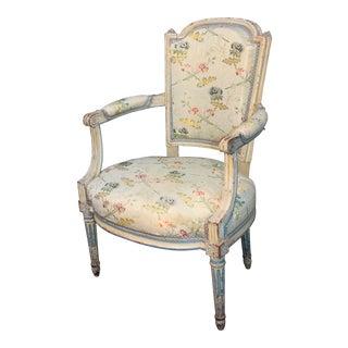 18th/19th Century Louis XVI Armchair Provenance Ivan Bowksi Estate La Jolla CA For Sale