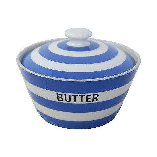 Vintage English Cornishware Butter Tub - Image 1 of 3