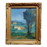 Image of Italian Countryside - 1920s Oil Painting For Sale