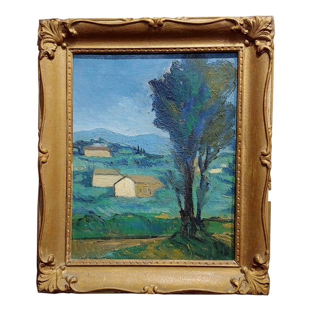 Italian Countryside - 1920s Oil Painting For Sale
