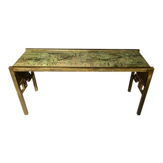 Philip & Kelvin LaVerne Oriental Console or Sofa Table For Sale