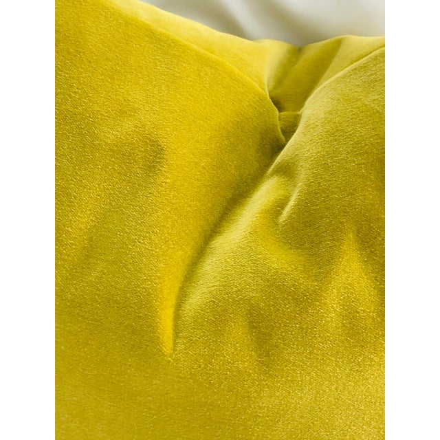 Wowza! Crushing on chartreuse! This designer velvet accent pillow is the same on both sides. 24 x 6 x 16 double-sided...