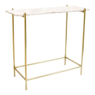Pasargad Home Vasto Marble & Stainless Steel Console For Sale