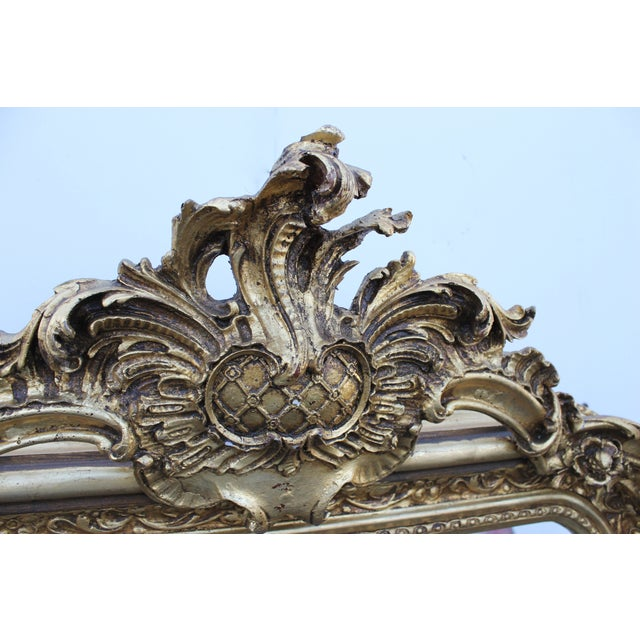 Ornate Carved Gilded French Mirror - Image 3 of 7