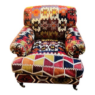 George Smith Kilim Short Scroll Armchair
