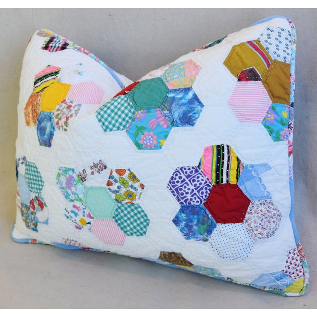 Early 21st Century American Patchwork Quilt Feather/Down Pillow For Sale - Image 5 of 7