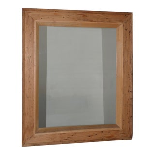Vintage American Pitch Pine Framed Mirror C.1950 For Sale