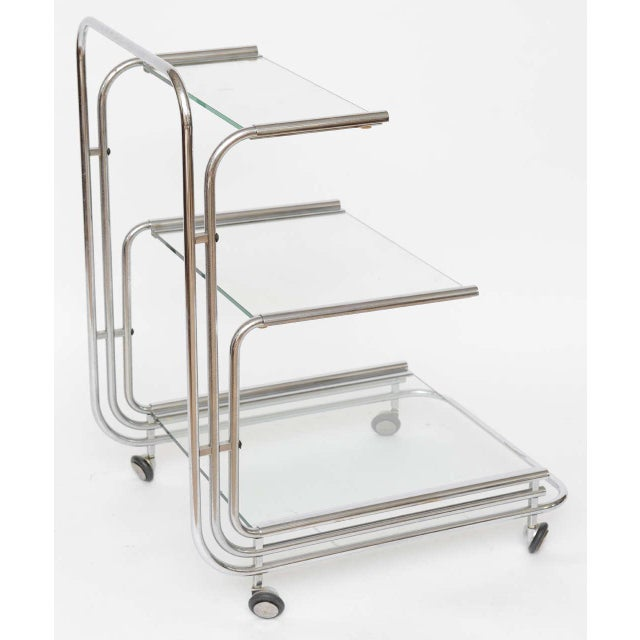 Fontana Arte Chrome Bar Cart - Image 6 of 10