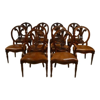 Henredon Leather Dining Chairs - Set of 10