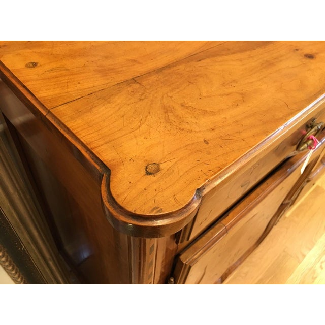 Antique French Country Inlaid Fruitwood Buffet or Sideboard For Sale In Los Angeles - Image 6 of 6