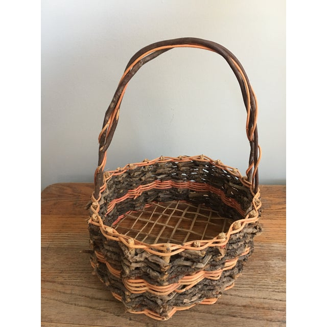 Early 20th Century Early 20th Century Antique French Gathering Basket For Sale - Image 5 of 6
