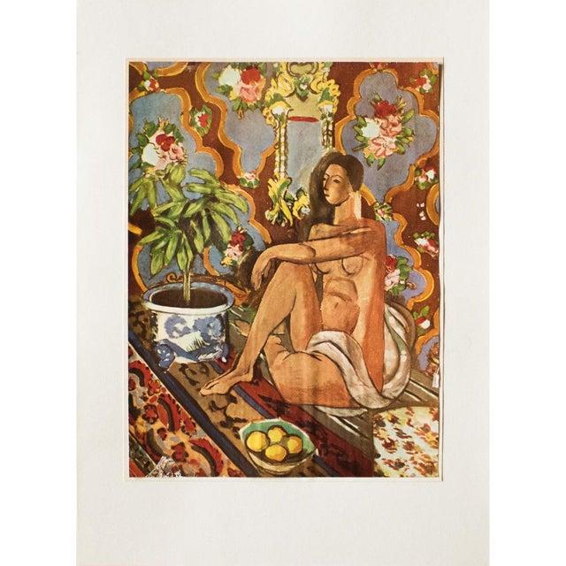 "Henri Matisse 1940s Henri Matisse, ""Decorative Figure"" Original Period Swiss Lithograph For Sale - Image 4 of 6"