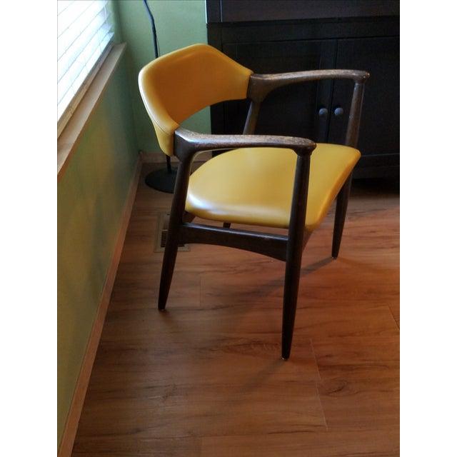 Danish Modern Teak Desk Chair - Image 5 of 5