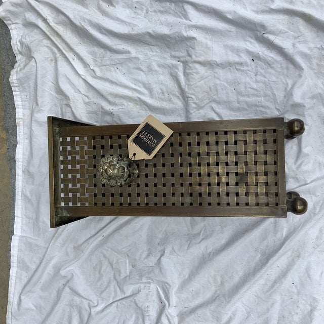 Metal Italian Woven Brass Umbrella Stand For Sale - Image 7 of 9