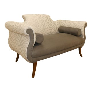 1920s Antique Duncan Phyfe Style Loveseat For Sale